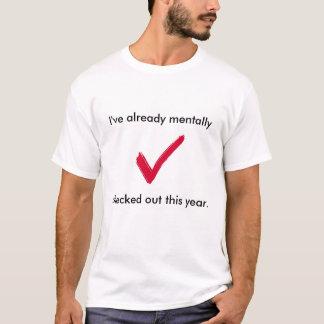 精神的に点検される Tシャツ
