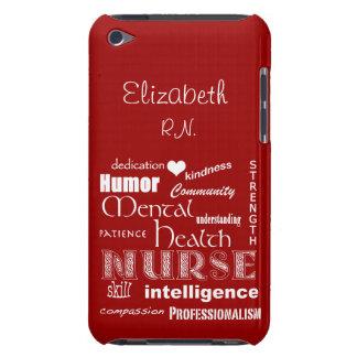 精神衛生のナースのプライド+ハートはまたは名前を個人化します Case-Mate iPod TOUCH ケース