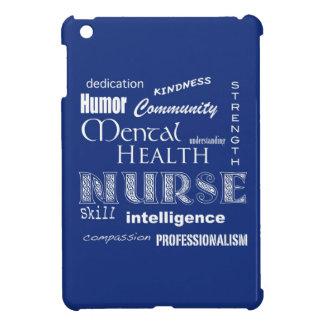 精神衛生のナース属性かブルーベリー iPad MINIカバー