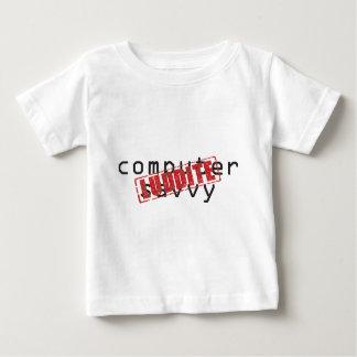 精通したコンピュータ: ラダイトのゴム印 ベビーTシャツ