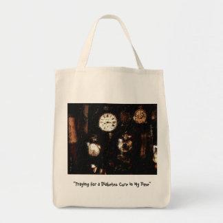 糖尿病の治療の祈りの言葉が付いているバッグ トートバッグ