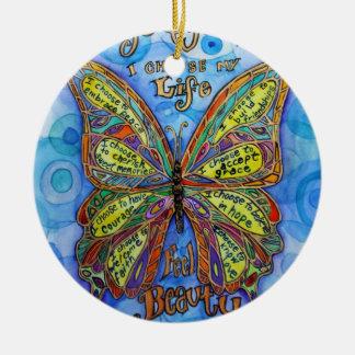 糖尿病の認識度サポート蝶芸術のオーナメント セラミックオーナメント