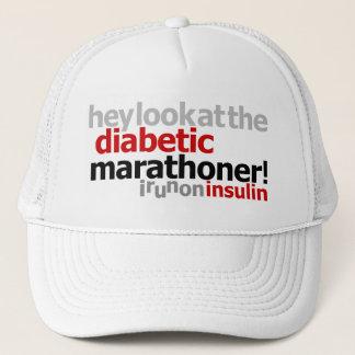 糖尿病性のマラソン選手-インシュリンで走られるI キャップ