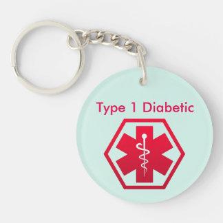 糖尿病性の医学警報 キーホルダー