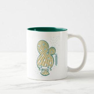 糖菓の糖菓の女の子-トンボ ツートーンマグカップ