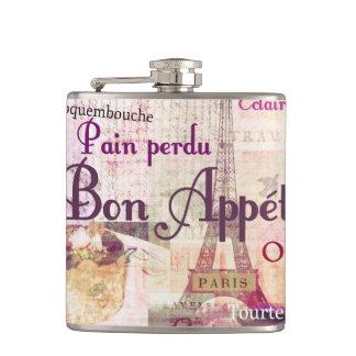 糖菓のAppétitのフランスのな食糧はパリのテーマの芸術を言い表わします フラスク
