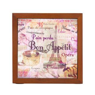 糖菓のAppétitのフランスのな食糧はパリのテーマの芸術を言い表わします ペンスタンド