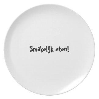 糖菓のappetitのプレートシリーズ-オランダ-はSmakelijk eten プレート