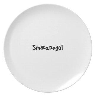 糖菓のappetitのプレートシリーズ-ポーランド語- Smacznego プレート
