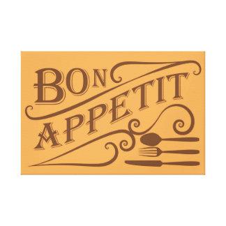 糖菓のAppetitの引用文のデザイン キャンバスプリント