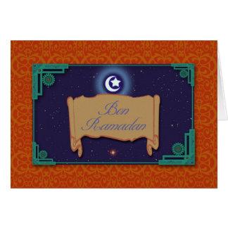 糖菓フランス語Francaisのラマダーン、ラマダーンカード カード