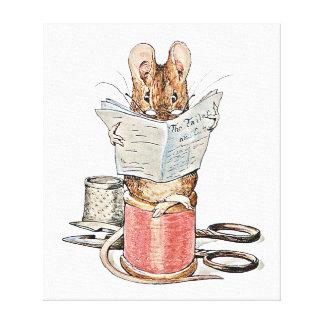 糸のスプールのテーラーマウス キャンバスプリント
