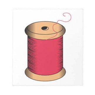 糸のスプール ノートパッド