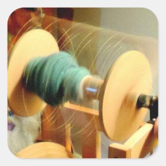 糸車の写真の旋回ライト スクエアシール