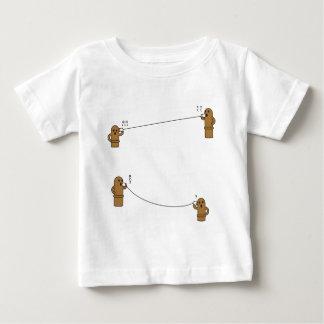 【糸電話はにーず】 HANIWAs speaking by string phone ベビーTシャツ