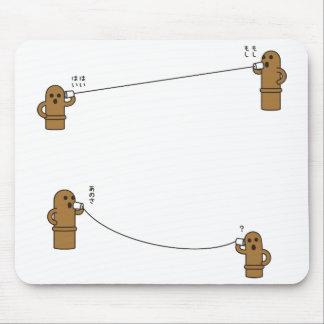 【糸電話はにーず】 HANIWAs speaking by string phone マウスパッド