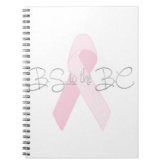 紀元前に乳癌ジャーナルまたはスケッチの本へのBS ノートブック
