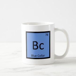 紀元前に-ブルーカラー労働者化学周期表 コーヒーマグカップ