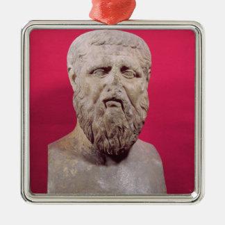 紀元前の4世紀のオリジナルのプラトンのコピーのバスト メタルオーナメント