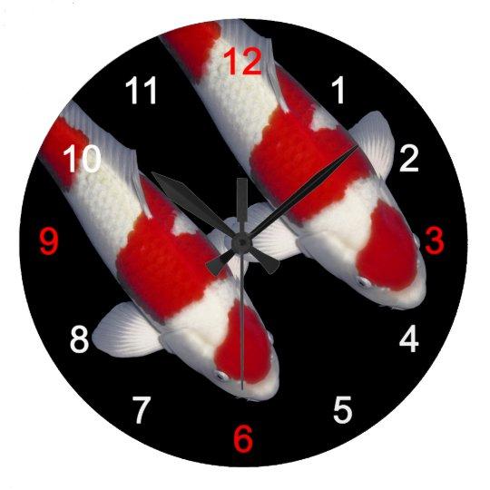紅白の錦鯉の壁時計,No.13 ラージ壁時計