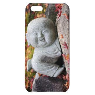 紅葉が付いているおもしろいで日本のな修道士の彫像 iPhone5Cケース