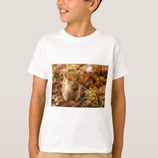 紅葉のイノシシのコブタのSU Scrofa Tシャツ