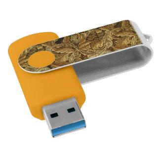 紅葉のウィリアム・モリスのヴィンテージパターン USBフラッシュドライブ