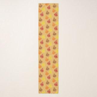 紅葉のシフォンのスカーフ スカーフ