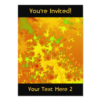 紅葉のフラクタル。 抽象的なArt. カード