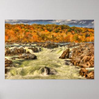 紅葉のポトマック川 ポスター
