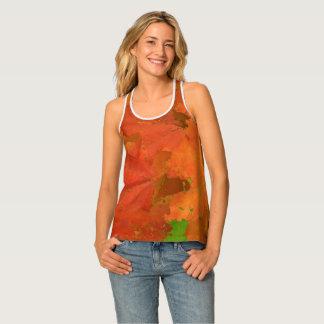 紅葉のワイシャツ タンクトップ