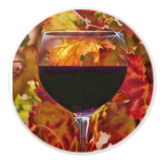 紅葉のワインの装飾のノブが付いている赤ワイン セラミックノブ