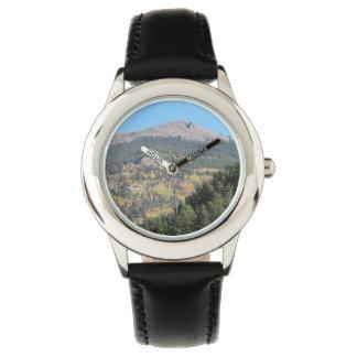 紅葉の山 腕時計