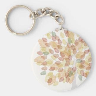 紅葉の樺の木 キーホルダー
