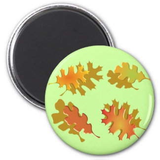 紅葉の秋のデザイン マグネット