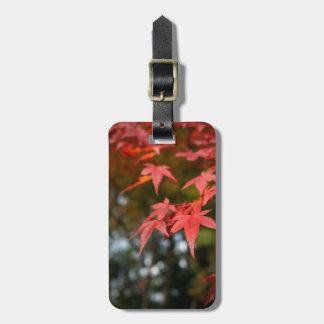 紅葉の荷物のラベル ラゲッジタグ