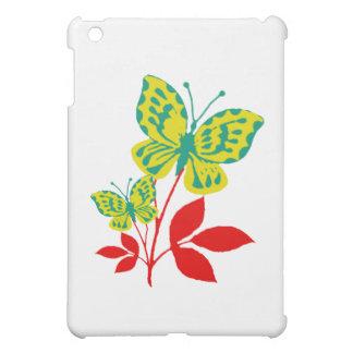 紅葉の黄色及び青の蝶 iPad MINI CASE