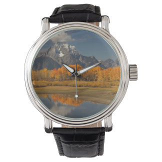 紅葉のoxbowのくねり 腕時計