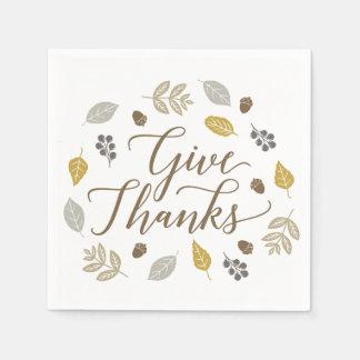 紅葉は感謝の感謝祭のナプキンを与えます スタンダードカクテルナプキン
