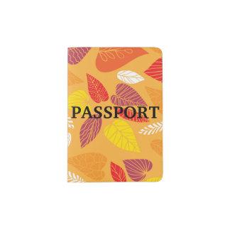 紅葉パターン パスポートカバー