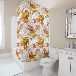 紅葉及び菊モノグラムのな#5 シャワーカーテン