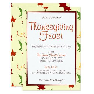 紅葉:  カスタマイズ感謝祭の招待状 カード