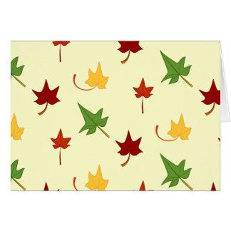 紅葉: 多彩の葉、メッセージカード カード