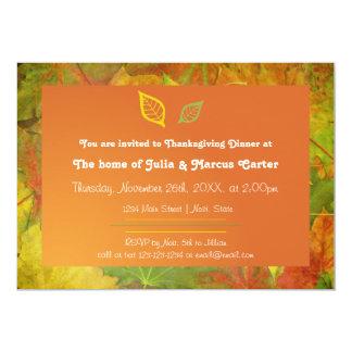 紅葉-感謝祭の夕食の招待 12.7 X 17.8 インビテーションカード