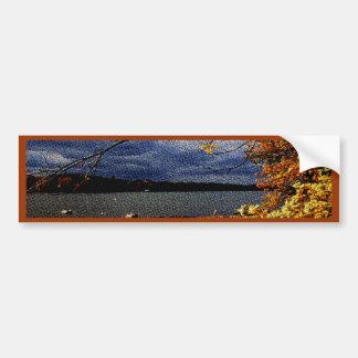 紅葉、水による突出の木 バンパーステッカー
