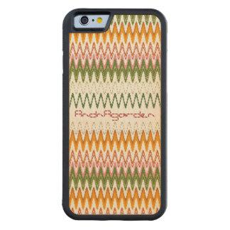 紅葉 織物 パターン iPhone 6 Wood Case CarvedメープルiPhone 6バンパーケース
