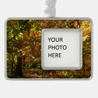 紅葉IIの黄色い秋の写真撮影のおおい シルバープレートフレームオーナメント