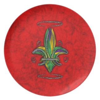 (紋章の)フラ・ダ・リか謝肉祭のプレート プレート