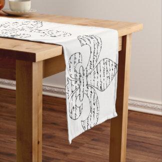(紋章の)フラ・ダ・リのフランス人の原稿 ショートテーブルランナー