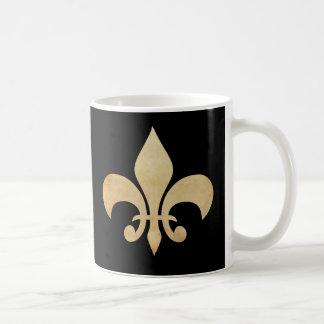 (紋章の)フラ・ダ・リのブラックコーヒーのマグ コーヒーマグカップ